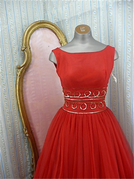 Stunning 1950s Holiday dress size small