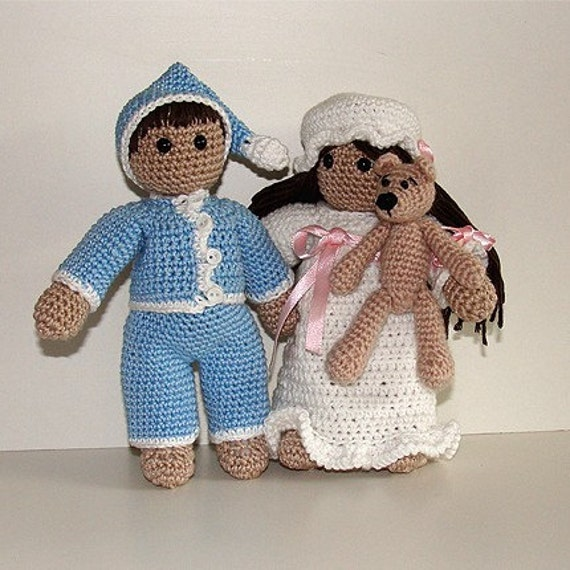 Crochet Pattern - Good Night Wilma and Willy