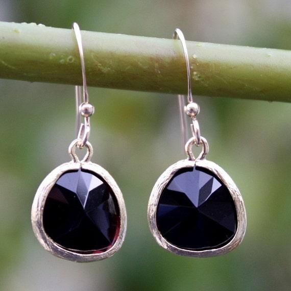 Lea earrings - Gold Black Onyx