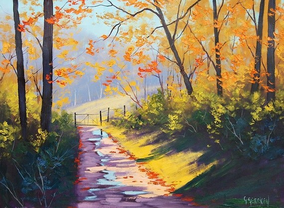 Autumn Landscape Original Ol Painting