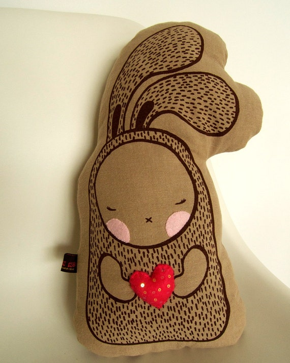 Heart Me Bunny - Cushion