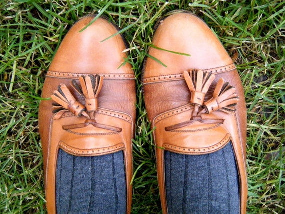 Leather vinatge dress shoes- Handmade in Italy.