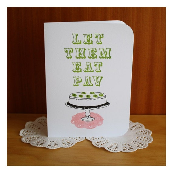 Let Them Eat Pav greeting card from Katydid Paper Designs