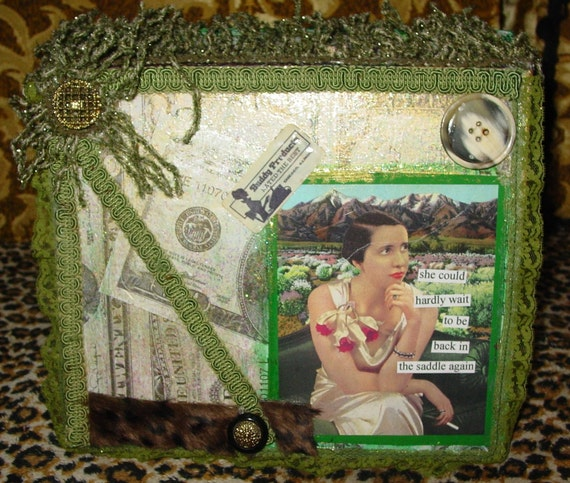 Artists crafter CASH box by recycled artist C. Reinke Made for artists who do shows