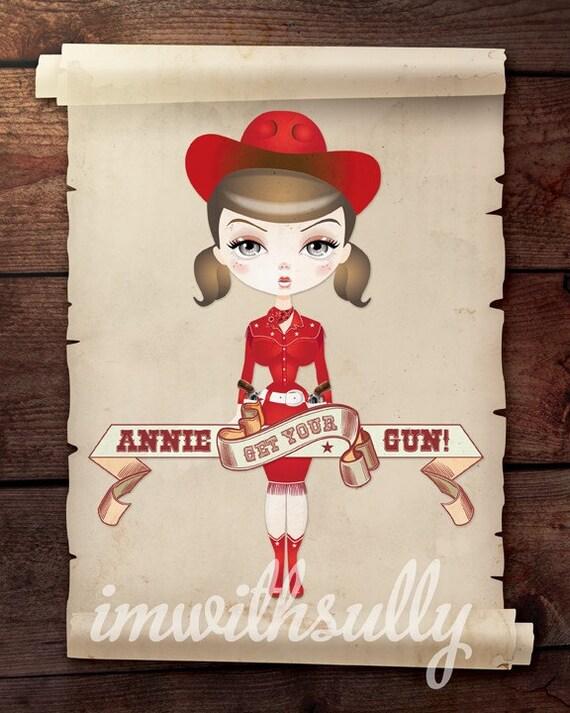 Cowgirl - Annie Get Your Gun 8x10 Print