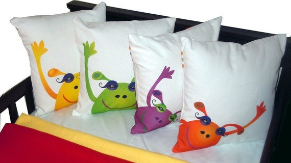 Monster  Pillow - Green