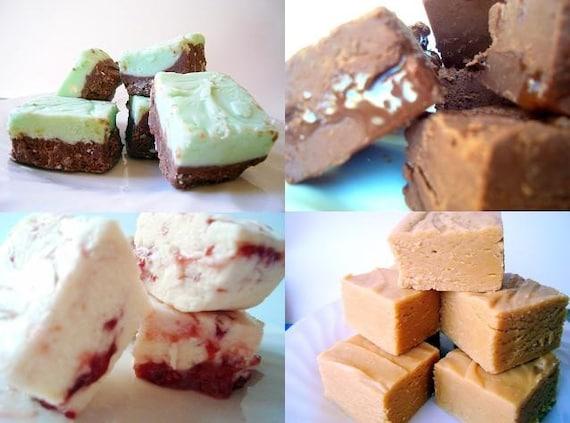 Julie's Fudge EVERY WEEK - 4 Weeks - 1/2 pound (6 pieces) each week - YOU Choose Flavors