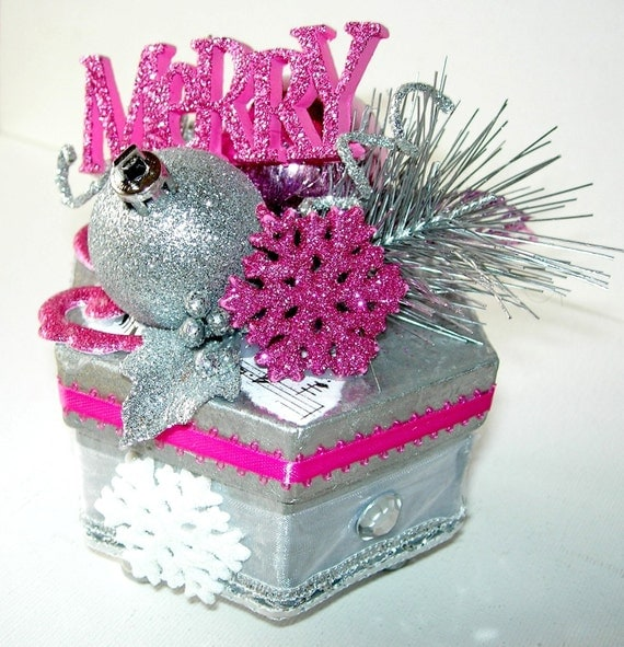 boxes with new year decorations