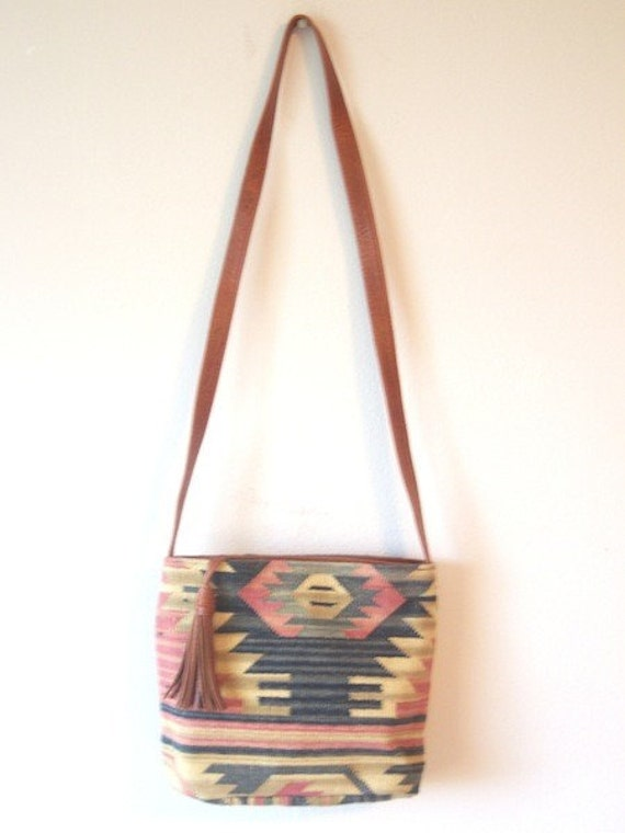 Vintage Kilim Carpet Bag Purse