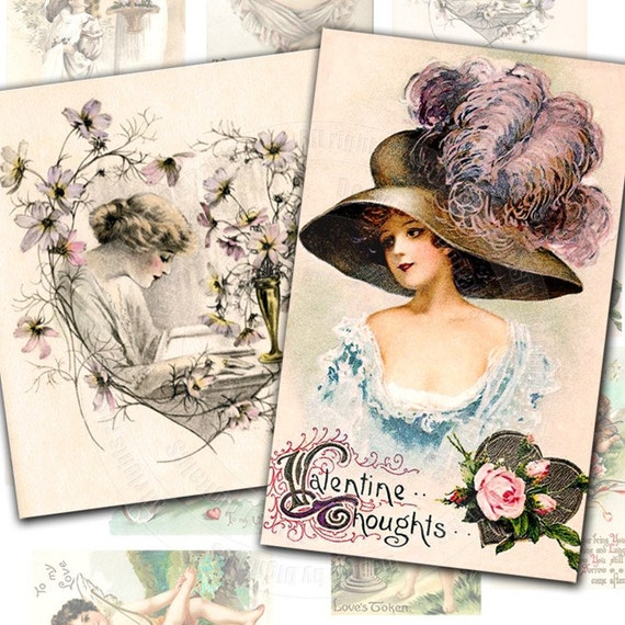 Cute Valentines Day Graphics. Vintage Valentine#39;s Day image