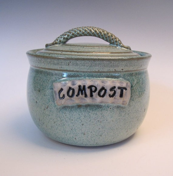Frosty Green Compost Jar