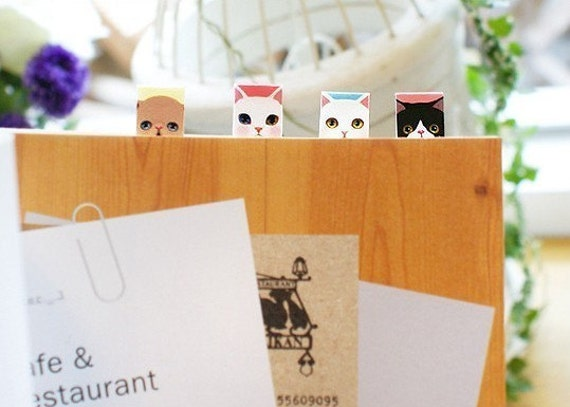 Adorable Cat Index Stickers (2 sheets)