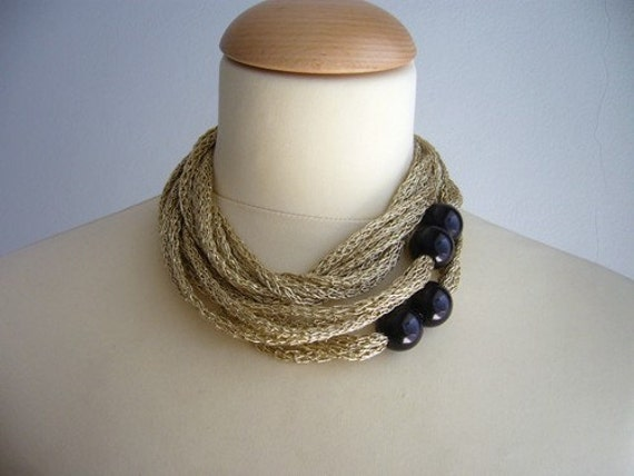 Gold and black metallic  new Fall Winter necklace