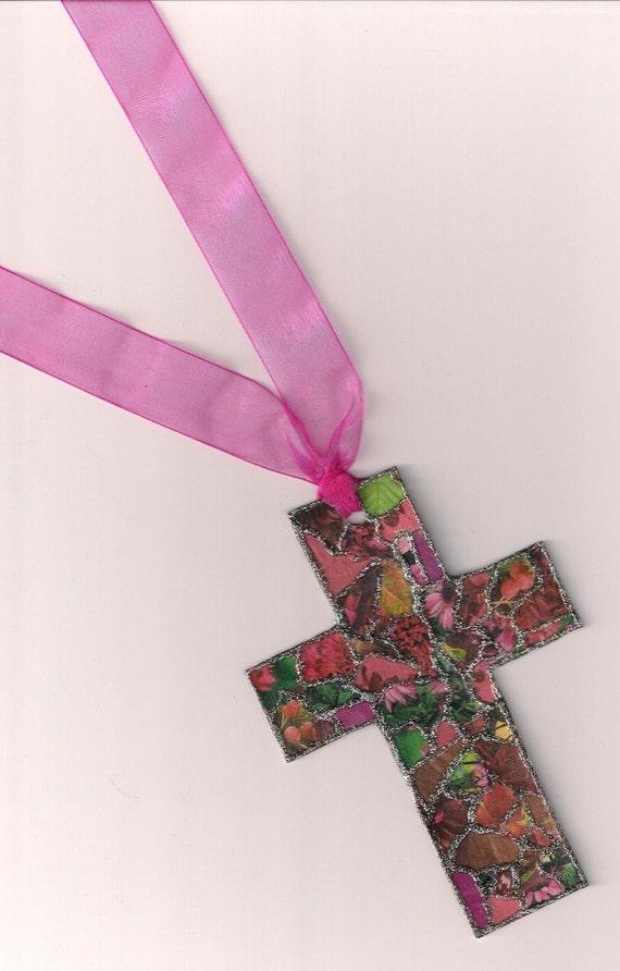 At The Cross Shades of Pink & Fushia Bookmark