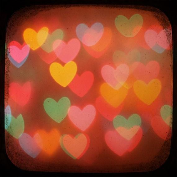 bokeh hearts II 5x5 ttv photo print