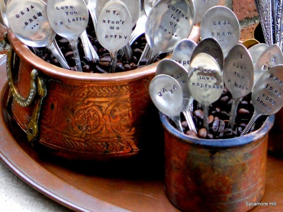 CUSTOM Coffee and Espresso Spoons - The Original, Organically Upcycled Vintage Silverware - Handmade by Sycamore Hill