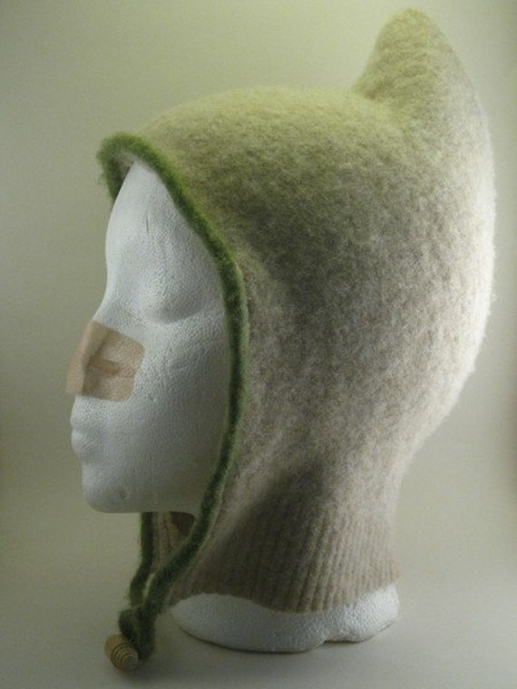 oatmeal wool elfen hat