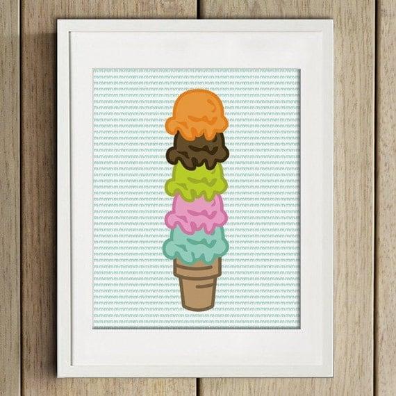 ice cream - wall art - print