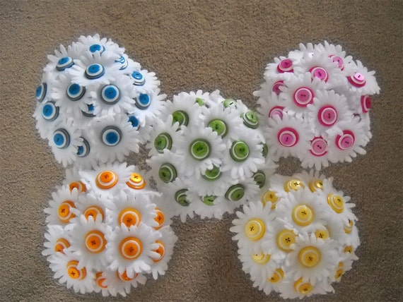 Custom Create Your Button Wedding Bouquets and Centerpieces