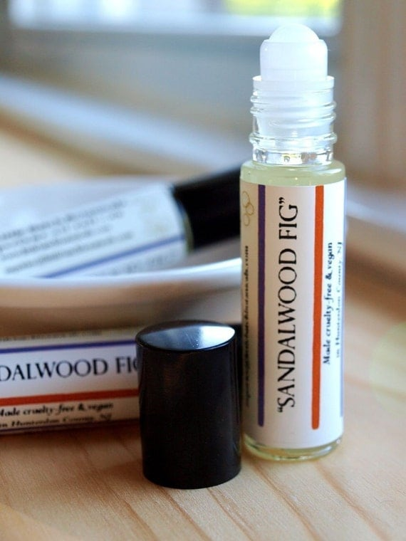 Sandalwood Fig Vegan Perfume Oil Roll-On Fragrance 10ml