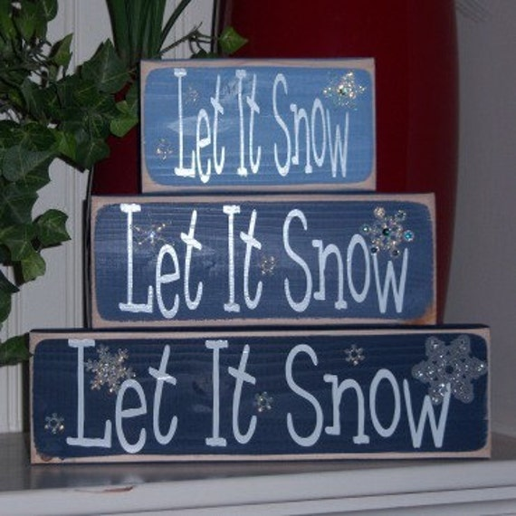 Let It Snow, Let It Snow, Let It Snow Wood Blocks
