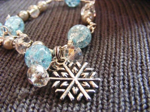 Blue Snow Bracelet - Snowflake Collection