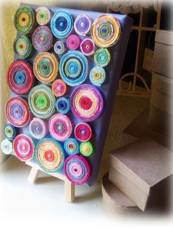 paper coil canvas art 5x7