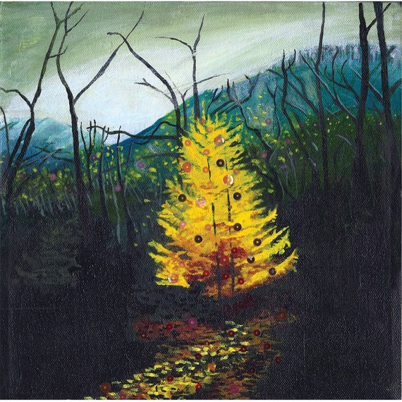 Holiday Larch Original Painting