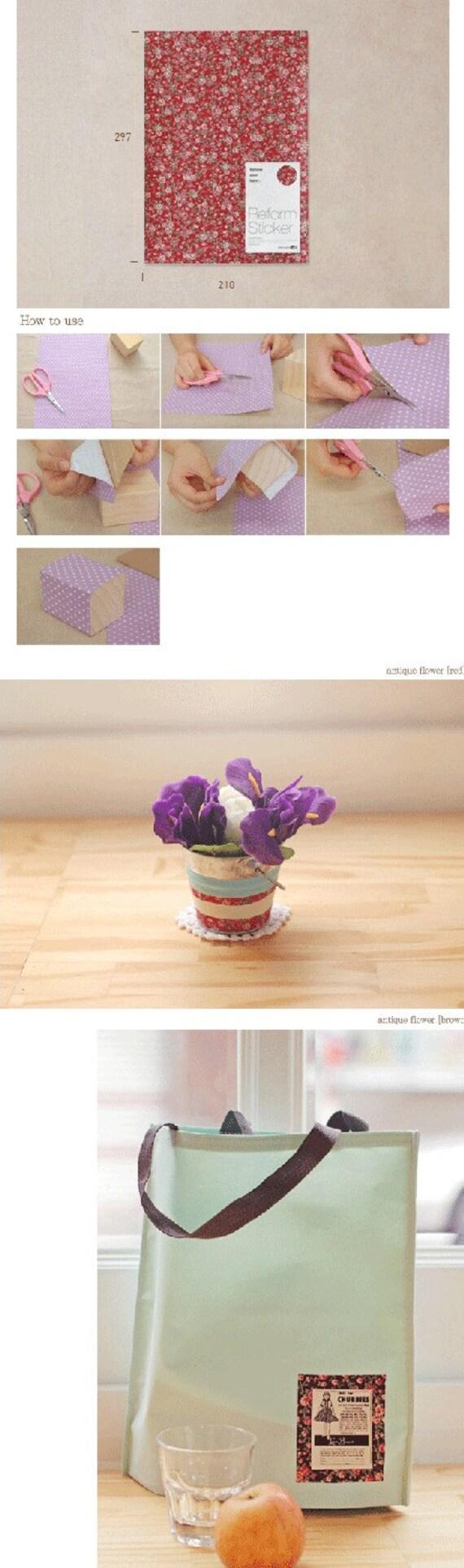 reform sticker antique flower - set of 2, t335030