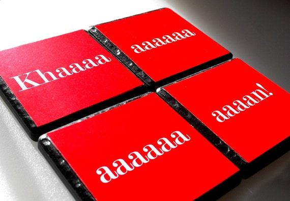 Khan - Set of 4 Ceramic Coasters