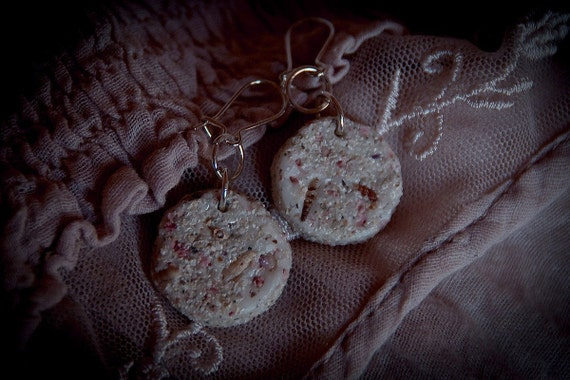 Нежные круглые песчаные серьги на серебро - готово к отправке