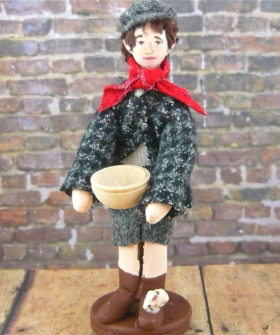Dickens Doll Oliver Twist  Please Sir May I have Some More Art Miniature
