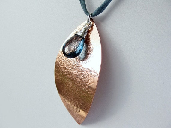 Formed from hand pierced copper sheet, shaped and textured in a rolling mill before being polished to a beautiful lustre.