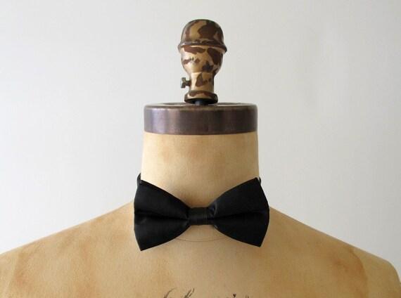 Vintage Black Tuxedo Bow Tie