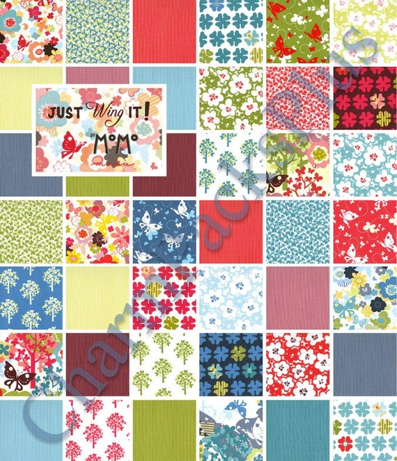 NEW - Just Wing It - Moda Charm Pack - Quilt Fabric Squares