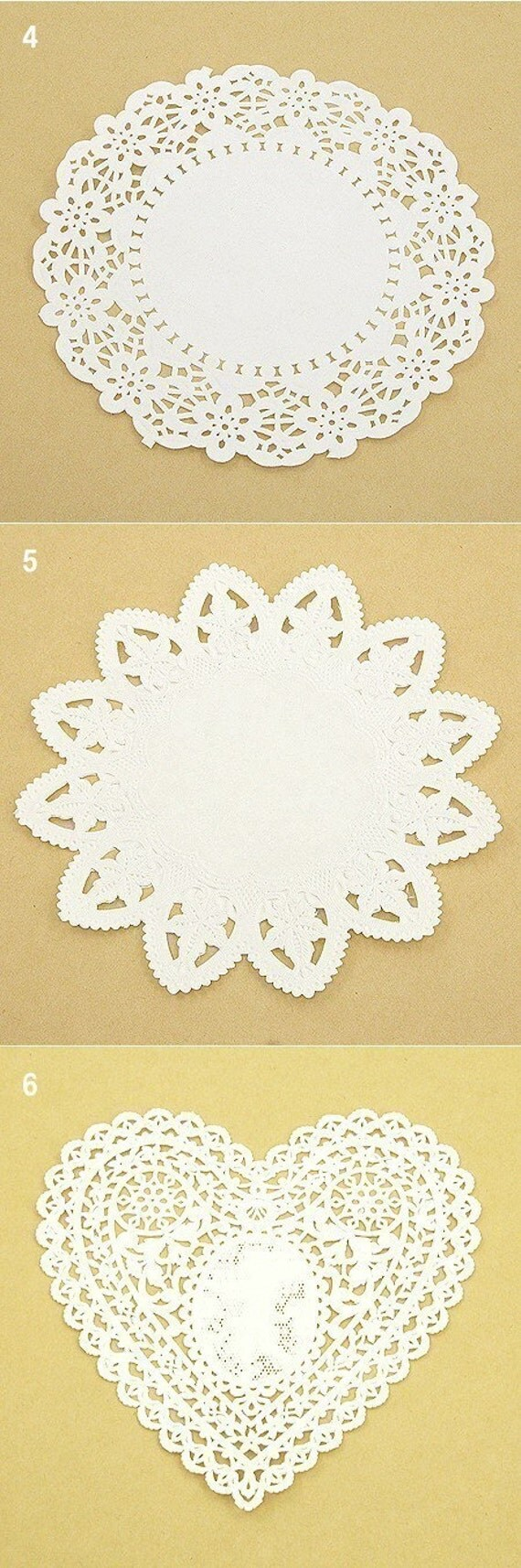 Sweet Package of Paper Doilies (20 sheets - your choice of one type)