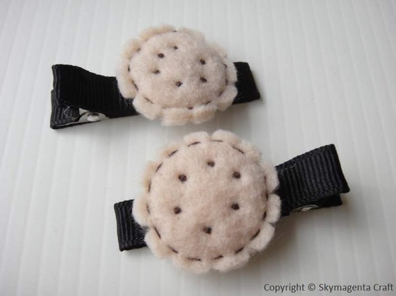 Felt Alligator Hair Clip - COOKIES