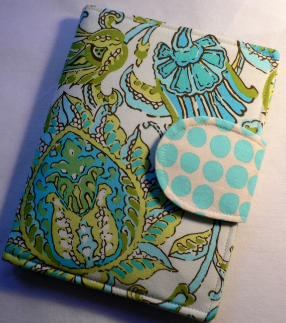 eReader Cover  Amy Butler Soul Blossoms Bliss Dancing Paisley Limestone