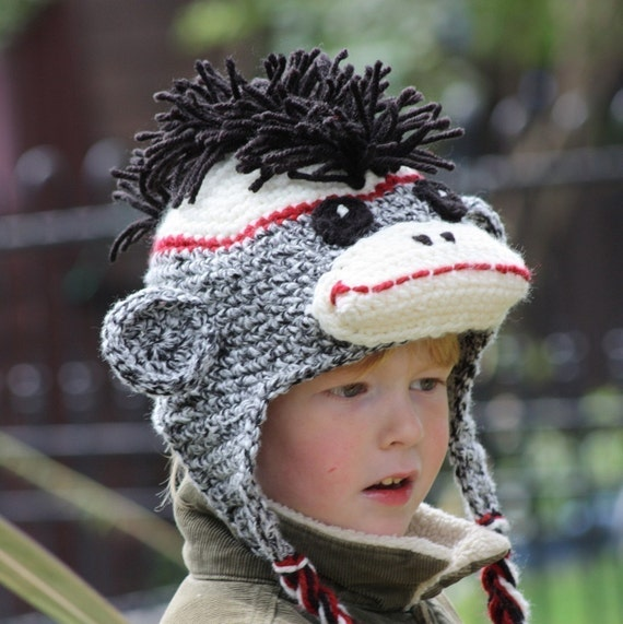 Knotty Knotty Crochet: Free Sock Monkey hat pattern!