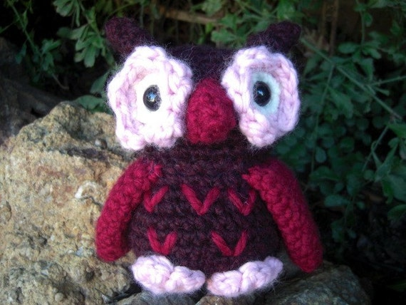Cranberry and Pink Owl