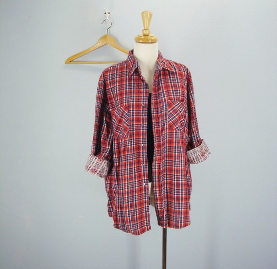vintage OVERSIZED Plaid Flannel Shirt