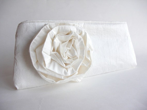 Rose Bloom Clutch Bridal Bag bridal Purse by keepbags on Etsy from etsy.com