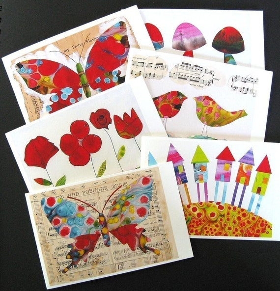 Set of 6 Handmade Cards