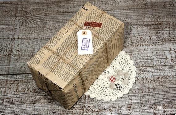 wrapping paper set - newspaper