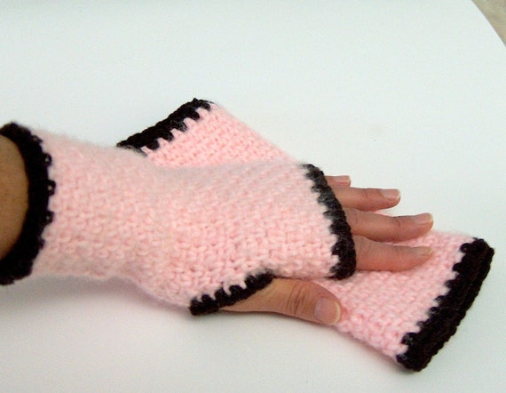 Baby Pink Fingerless Gloves Shipping Free by GULTEN on Etsy from etsy.com