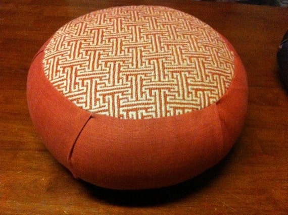 Zen Zafu Sitting Cushion- Rust Mosaic