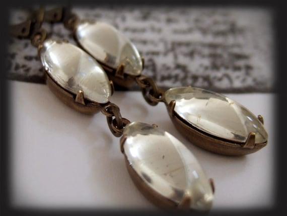 REFLECTIONS. vintage glass jewel earrings