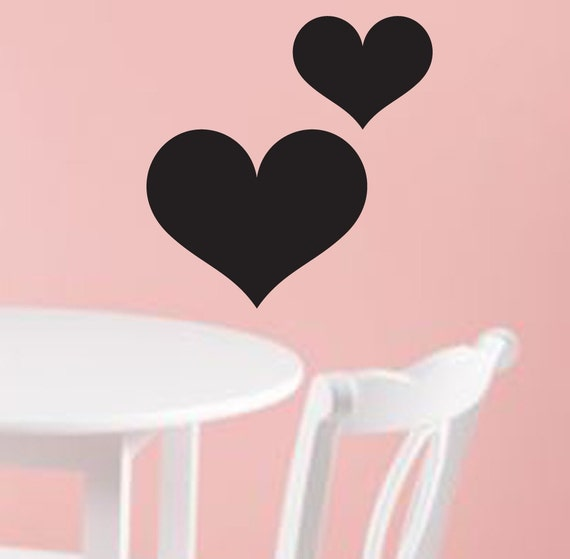 Chic Hearts Chalkboard / Blackboard Wall Art Decal