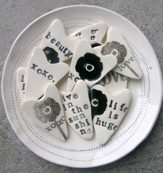 10 ceramic hearts for 70.