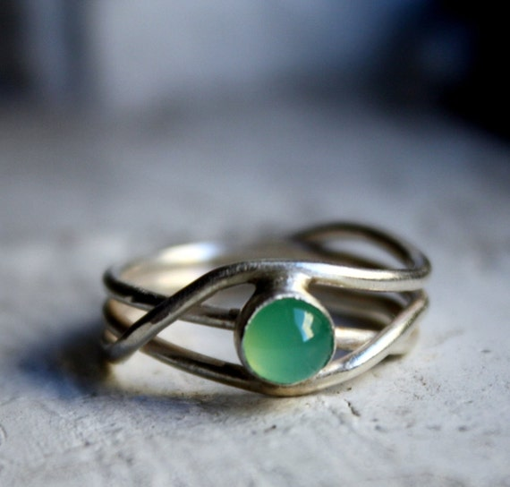 Chrysoprase Nest Ring by Rachel Pfeffer